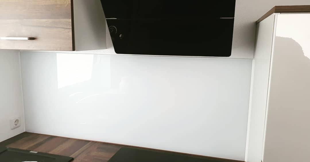 Küchenrückwand Glas artic white